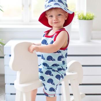 Wal Sommer Strampler - ohne Arm