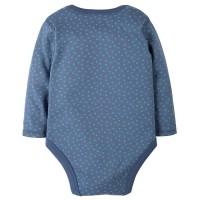 Vorschau: Bio Baby Body dicker flieder blaue Punkte