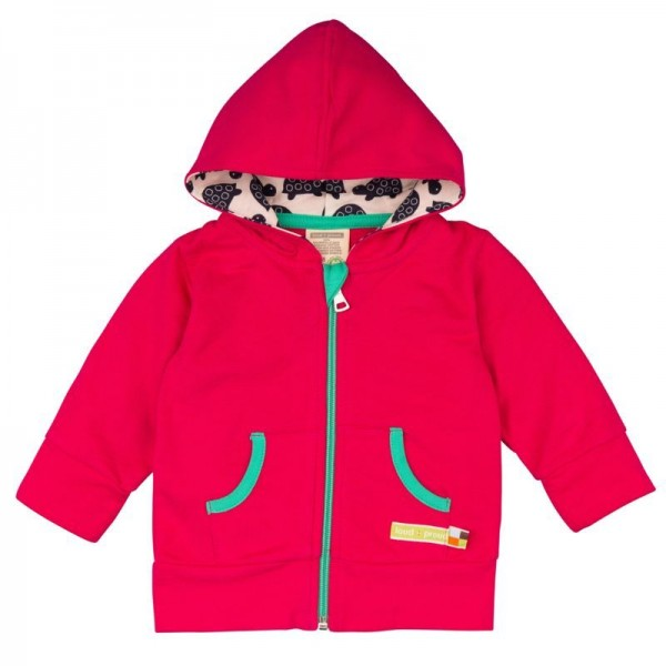 Sweatjacke für Kinder Loud and Proud dunkel pink/rot