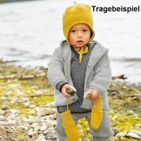 Vorschau: Baby Wickeljacke Wolle senf