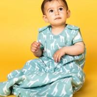 Leichter Musselin Baby Schlafsack hellblau