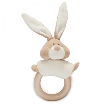 Rassel mit abnehmbarem Ring Hase