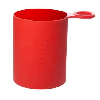 Pura kiki Silikonhülle mit Griff Sportflaschen – rot