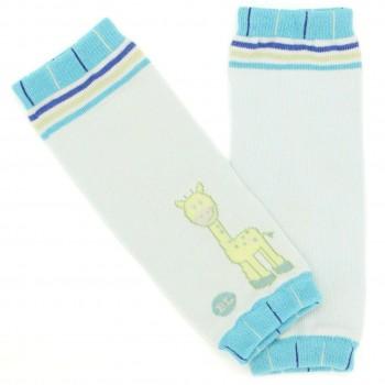 Blaue Arm- & Beinstulpen auch für Babytragen Giraffe