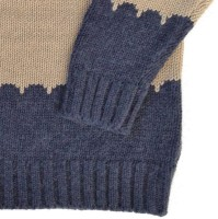 Vorschau: Strickpullover Wolle Biobaumwolle Mix - 4 Knöpfe