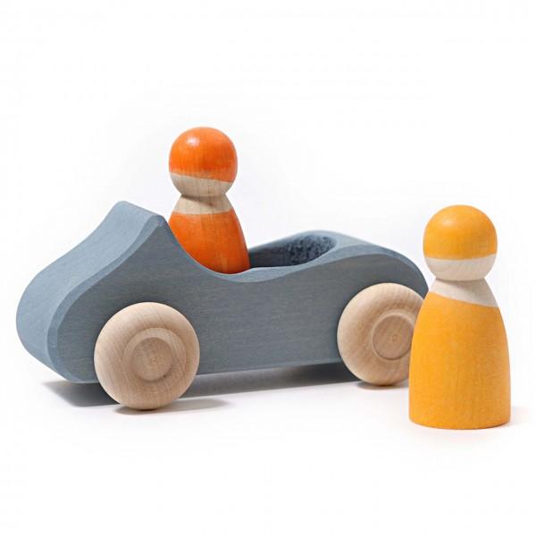 Holzauto großes Cabrio mit 2 Männchen ab 1 Jahr