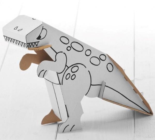 Dino Zum Stecken Malen Spielen Stufe Einfach