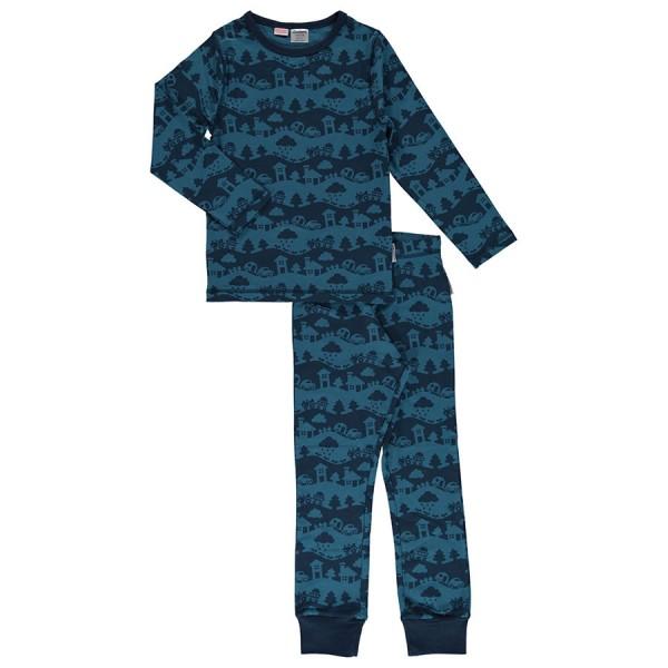 Blaue Landschaft Schlafanzug