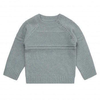 Baby Strickpullover in grau