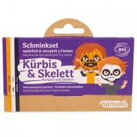 Bio Kinderschminke Kürbis & Skelett 3 Farben