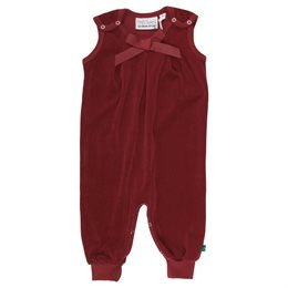 Warmer Velour Babystrampler bordeaux