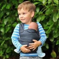 Fürs Geschwisterkind - marsupi mini Trage blau
