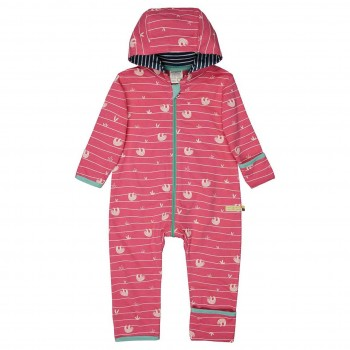 Leichter Sweatoverall Faultiere pink