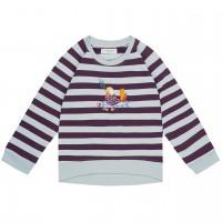 Baby Sweater mit Vogel-Aufnäher in lila