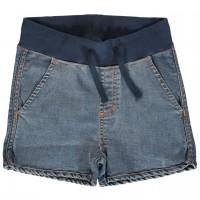 Elastische Schlupf Jeans Shorts