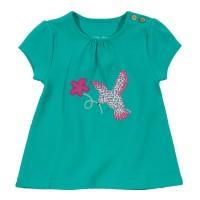 Vorschau: T-Shirt mit Knöpfen - Vögelchen