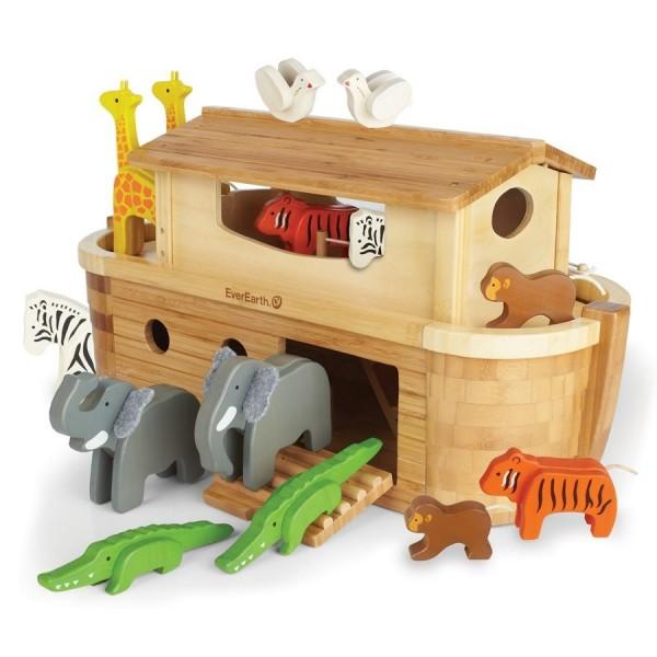 XXL Arche Noah zum Spielen mit 22 Holztieren