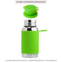 Vorschau: Pura kiki Edelstahl Sportflasche Sportverschluss 550 ml grün