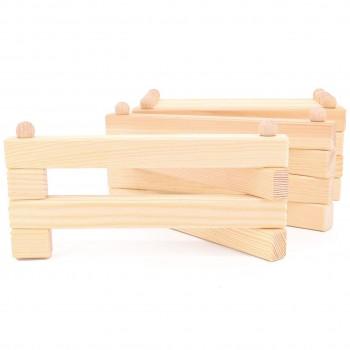 Tiergehege Holz Zaun zusammenklappbar 200 cm