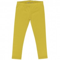 Elastische Uni Basic Leggings limonen-gelb