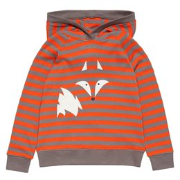 Fuchs Hoody orange-grau gestreift