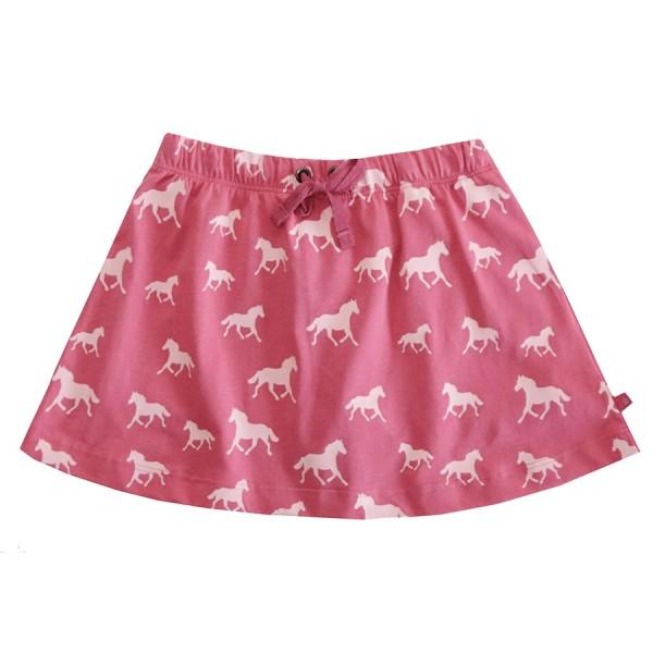 Mädchen Bio Shorts als Rock mit Pferden 2in1