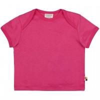 Leichtes Uni Kurzarm Shirt Basic in pink