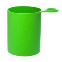 Pura kiki Silikonhülle mit Griff Sportflaschen – grün