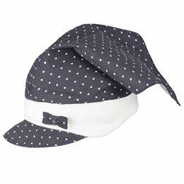Elegantes Mädchen Kopftuch mit Stirnband marine