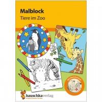Malblock für Kinder ab 3 Jahre Zoo