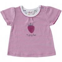 Mädchen T-Shirt Ringel Erdbeere