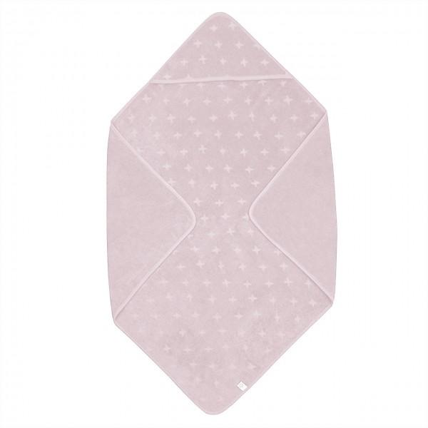 Müsli Kapuzenhandtuch rosa 100x100