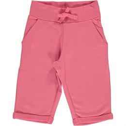 Rosa-pinke Sweat Shorts knielang