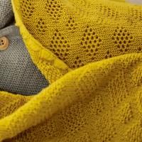 Vorschau: Leichte Babydecke Wolle Bio 80x100 cm senf