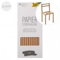 Papier Strohhalm 25 Stück lebensmittelecht braun