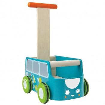 Blauer Lauflernwagen mit Stauraum