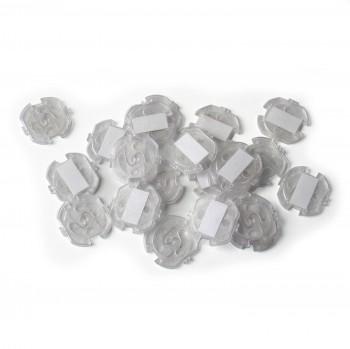 Steckdosenschutz klebbar 20 Stück - transparent