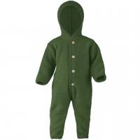 Woll Fleece Overall mitwachsend schilf-grün