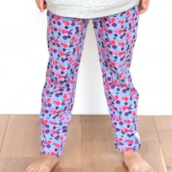 Lila Blumen Leggings
