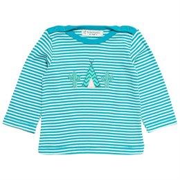 Baby Shirt mit beidseitigen Druckknöpfen türkis