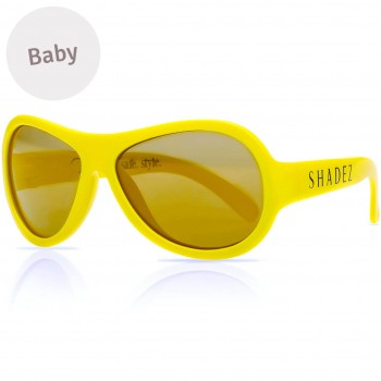Baby flexible Sonnenbrille 0-3 Jahre uni gelb polarisiert