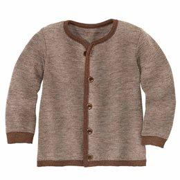 Leichte warme Strickjacke Wolle atmungsaktive braun