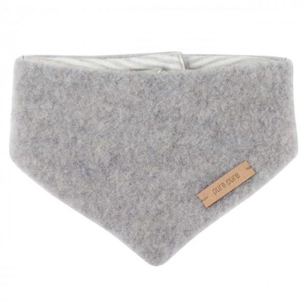 Dickes Wolle Halstuch mit Druckknopf grau