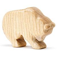 Holzfigur Bär unbehandelt  7 cm hoch