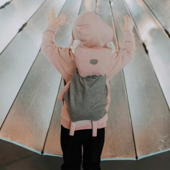 Kuscheltier mit Rucksack Katze rosa 70cm
