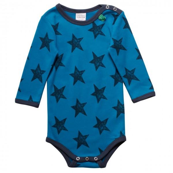 Sternen Langarmbody blau