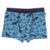 Jungenboxer blau Wölfe