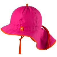 Verstellbare Sommermütze mit Nackenschutz pink