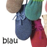 Neugeborenen Strick Handschuhe Schurwolle blau