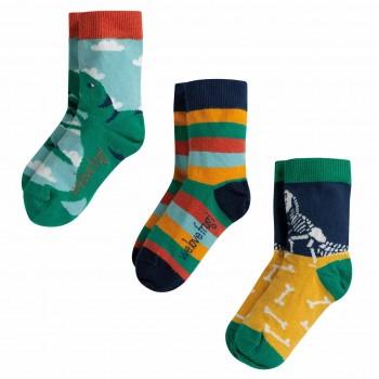 Dino Kinder Jungen Bio Socken 3er Pack